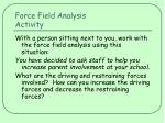 force field analysis activity
