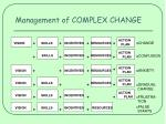 management of complex change