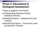 phase 4 educational ecological assessment37