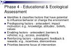 phase 4 educational ecological assessment48