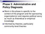 phase 5 administrative and policy diagnosis41