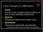 3 key concepts i e big ideas91