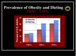 prevalence of obesity and dieting 1960s 1990s