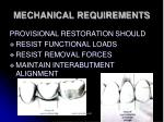mechanical requirements