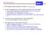 the doi system
