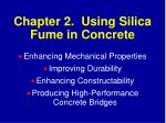 chapter 2 using silica fume in concrete