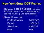 new york state dot review