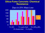 silica fume concrete chemical resistance