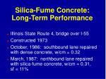 silica fume concrete long term performance