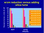 w cm reduction versus adding silica fume28