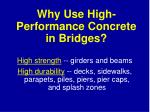 why use high performance concrete in bridges
