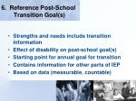 6 reference post school transition goal s