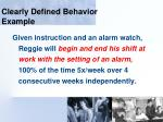 clearly defined behavior example106