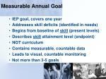 measurable annual goal