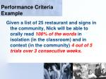 performance criteria example111