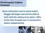 performance criteria example114