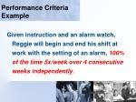 performance criteria example115