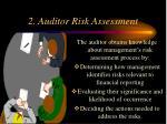 2 auditor risk assessment