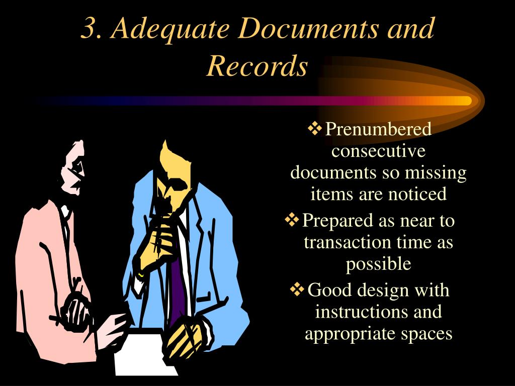 3. Adequate Documents and Records