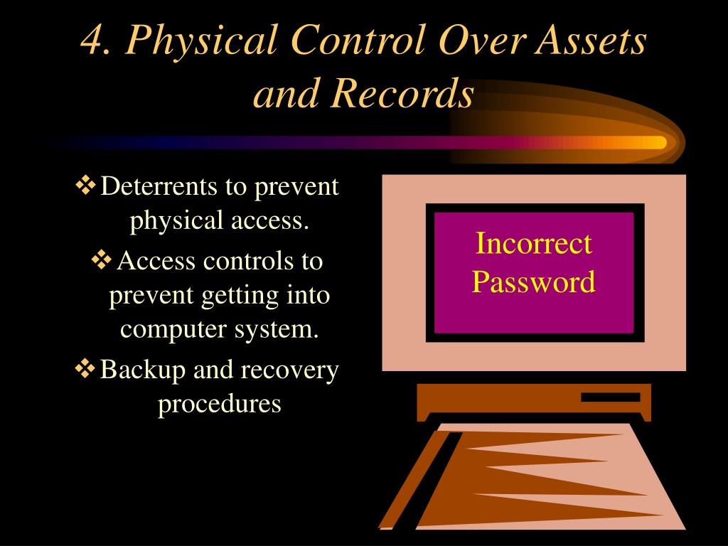 4. Physical Control Over Assets and Records