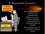 b reasonable assurance