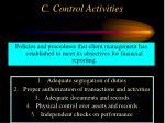 c control activities