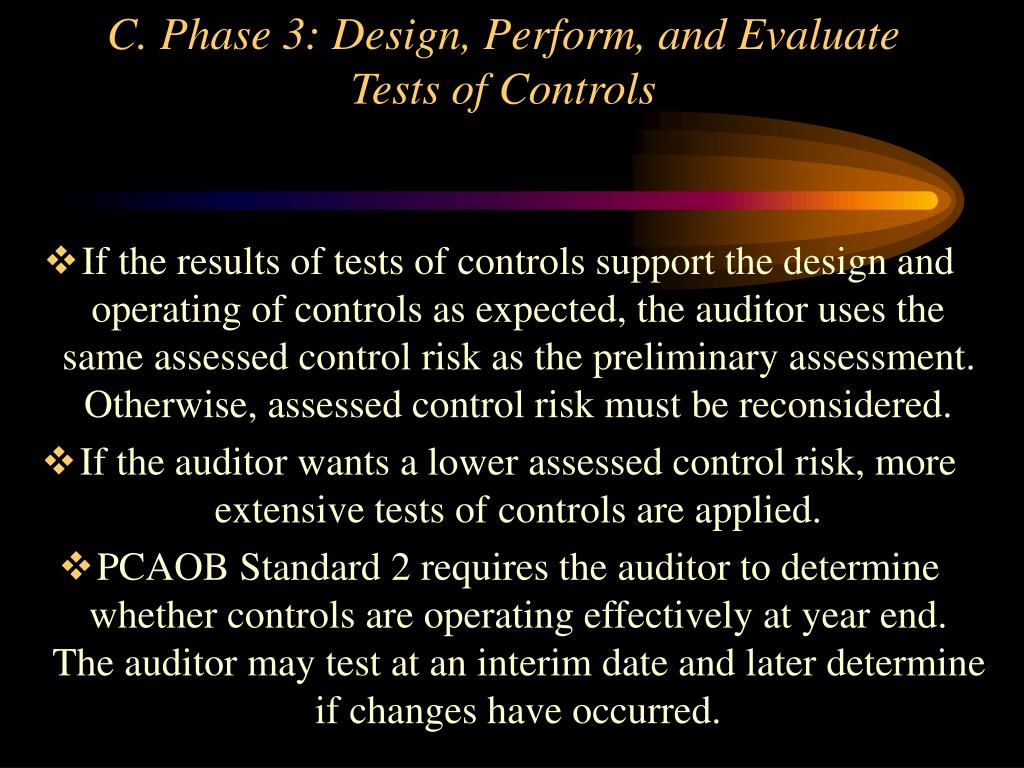 C. Phase 3: Design, Perform, and Evaluate Tests of Controls