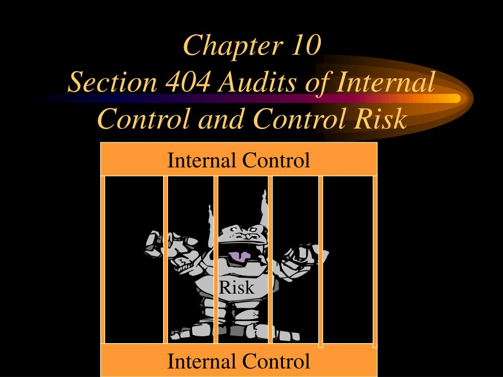 chapter 10 section 404 audits of internal control and control risk l.