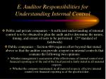 e auditor responsibilities for understanding internal control