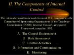 ii the components of internal control