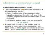 culture tunisienne et comportement au travail28
