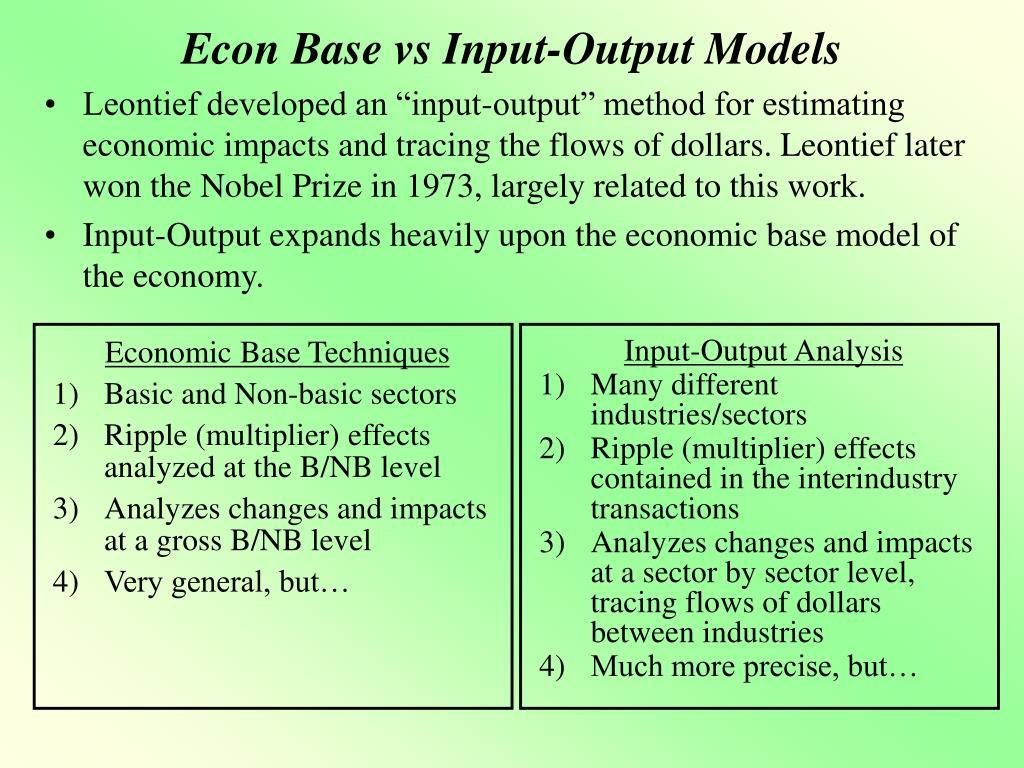 econ base vs input output models l.