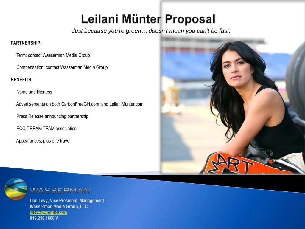 Leilani Münter Proposal