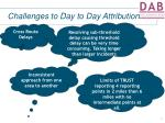challenges to day to day attribution4