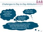 challenges to day to day attribution8