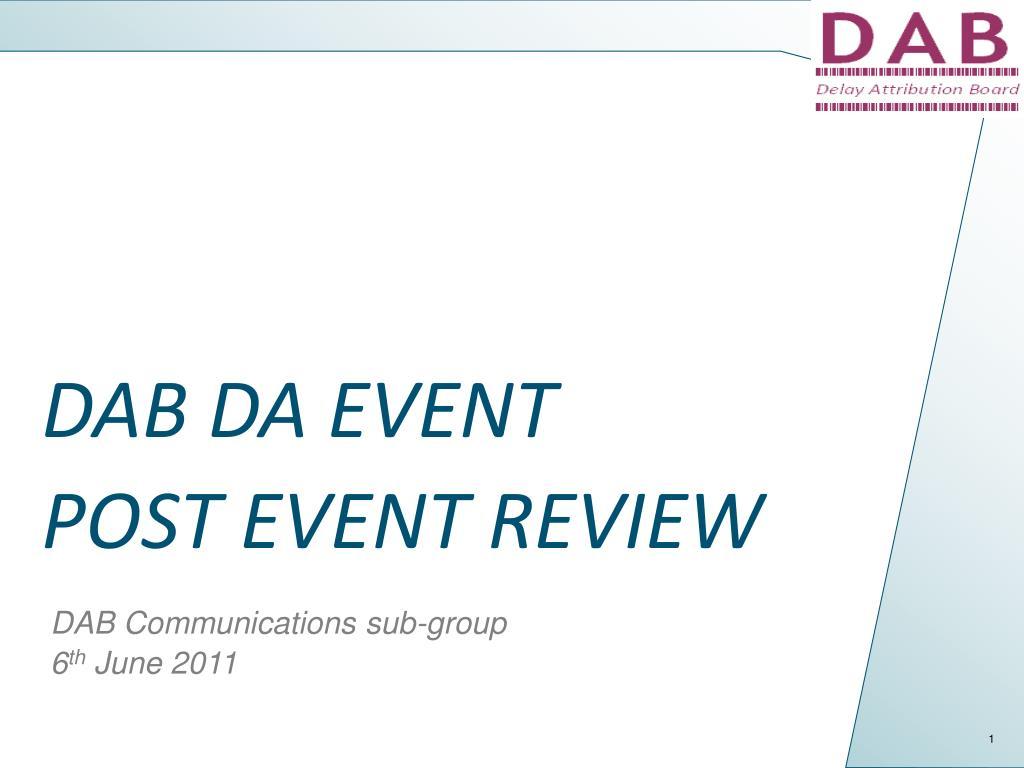 dab da event post event review l.