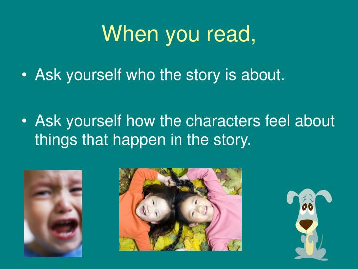 When you read