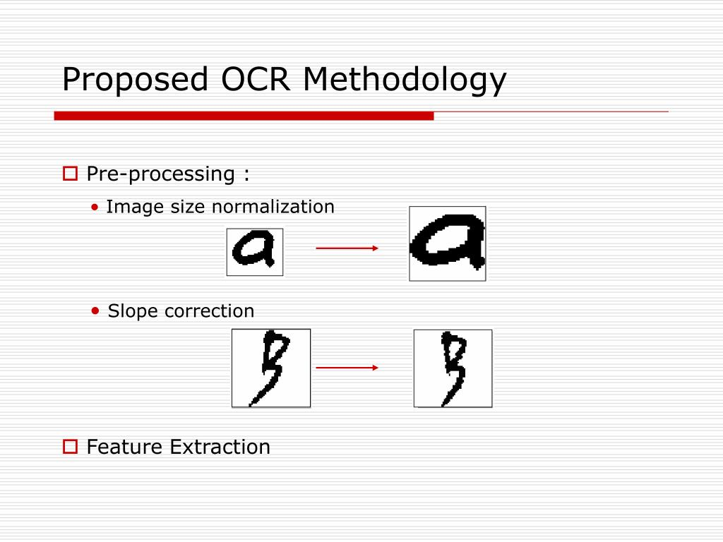 Proposed OCR Methodology