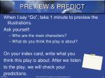 preview predict