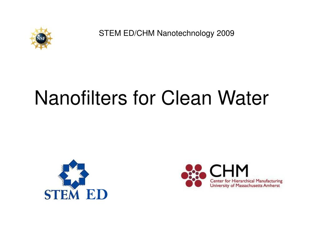 nanofilters for clean water l.
