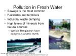 pollution in fresh water
