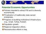 potential economic opportunities