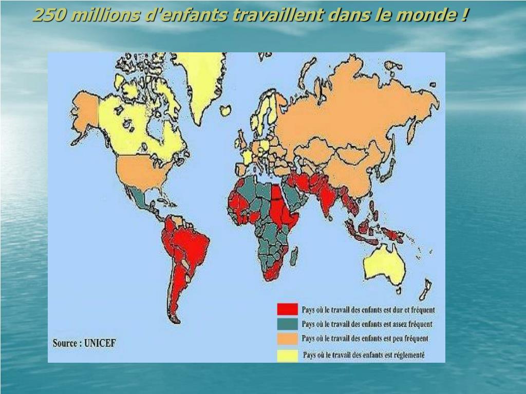 250 millions d enfants travaillent dans le monde l.