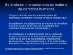 est ndares internacionales en materia de derechos humanos