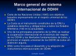 marco general del sistema internacional de ddhh