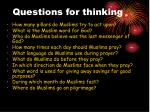 questions for thinking