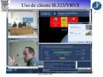 uso de cliente h 323 vrvs14