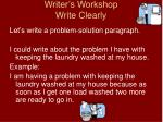 writer s workshop write clearly