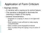 application of form criticism18