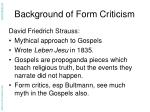 background of form criticism6